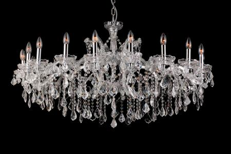 Crystal Chandelier Josephine 18 light 120cm (chrome)