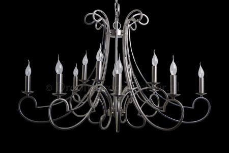 Kroonluchter Chantelle 12 lichts (nikkel satijn) - Ø112cm