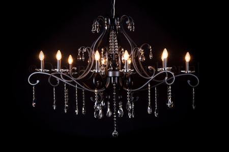Crystal Chandelier Clarance 10 lights (matt black)