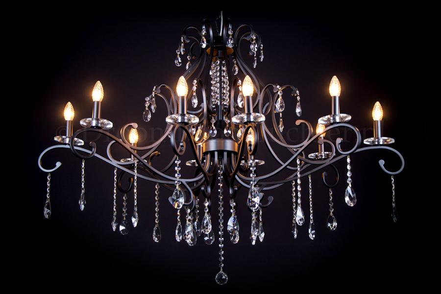Crystal Chandelier Clarance 10 lights (matt black)