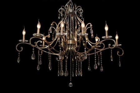 Crystal Chandelier Clarence 10 light (bronze)