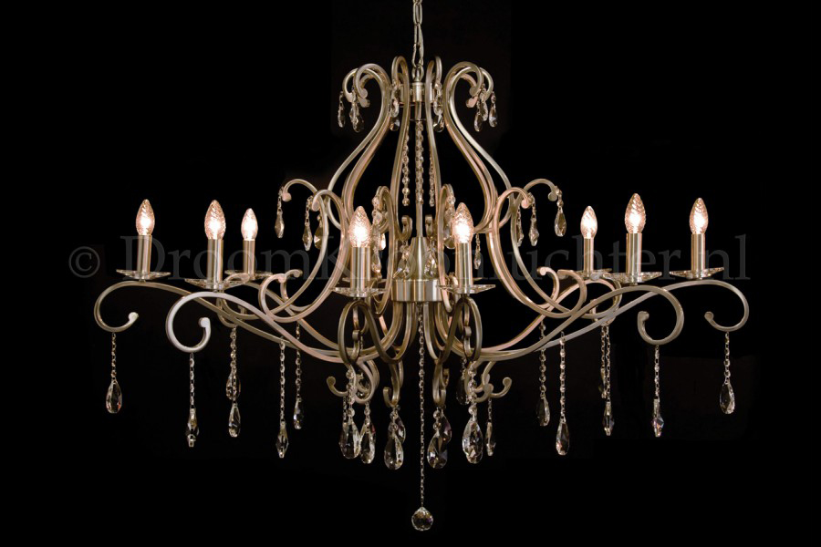 Stijlvol Kristallen Hanglampen : Kristallen kroonluchter clarance lichts kristal mat nikkel