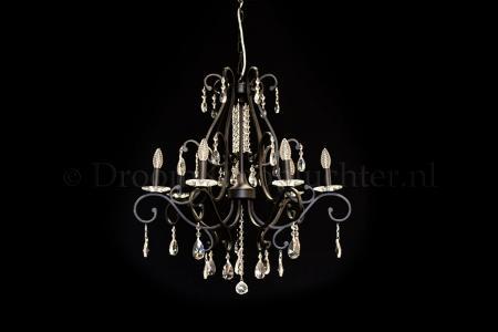 Crystal Chandelier Clarance 7 light (matt black)