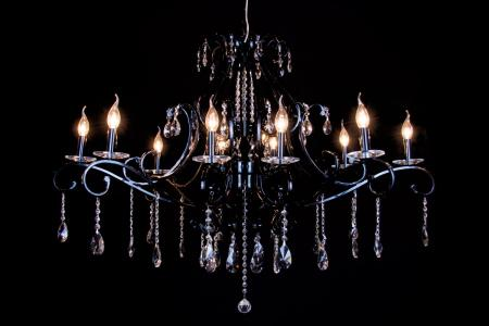 Crystal Chandelier Clarance 10 lights (shine black)