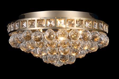Plafondlamp Amanda 3 lichts (kristal/messing) - Ø37cm