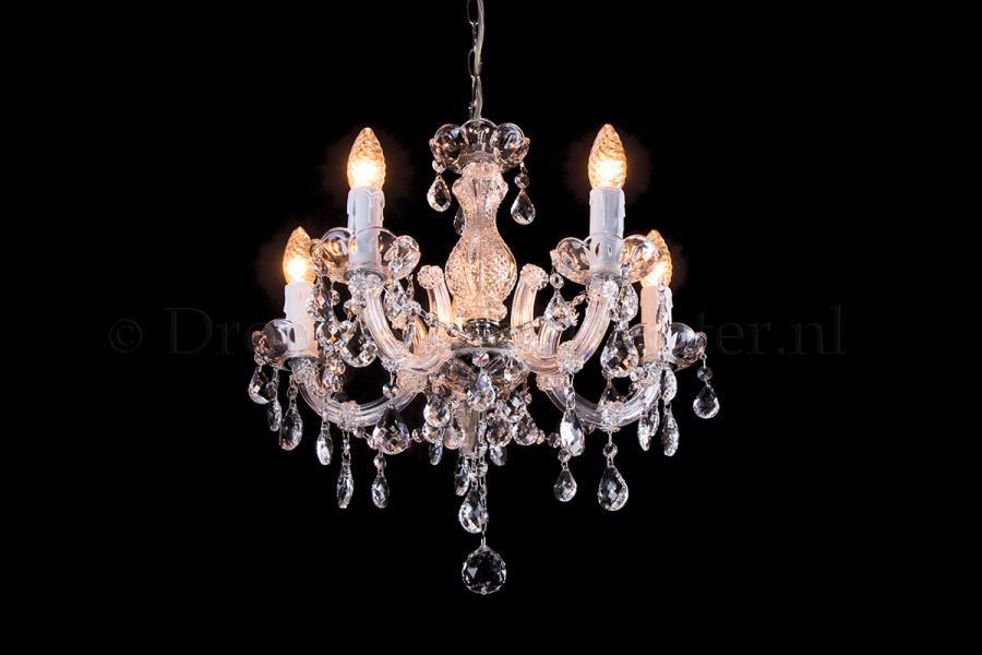 Crystal Chandelier Maria Theresa in chrome 5 lights - Ø45cm