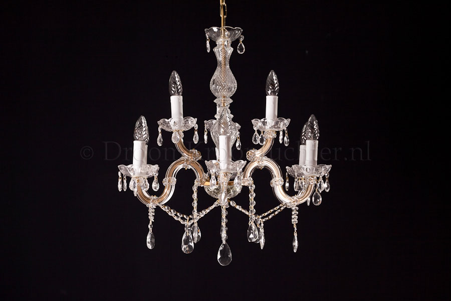 Crystal Chandelier Maria Theresa in gold 9 lights - Ø60cm