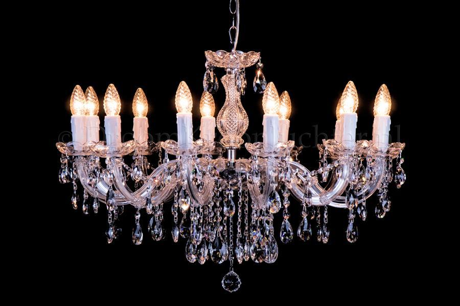 Crystal Chandelier Maria Theresa 12 lights (chrome)