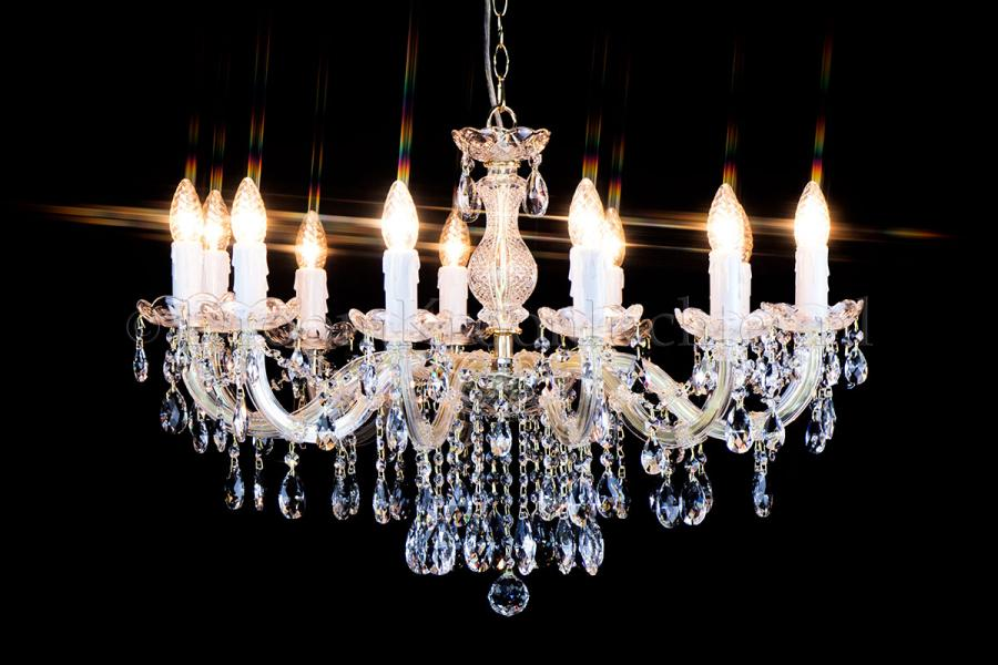 Crystal Chandelier Maria Theresa in gold 12 lights - Ø75cm