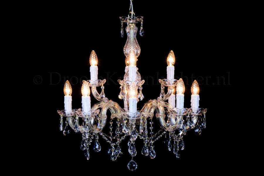 Crystal Chandelier Maria Theresa in gold 12 lights - Ø60cm