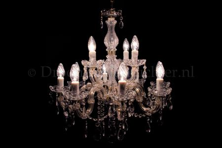 Chandelier Maria Theresa 8+4 light S-arm (gold)