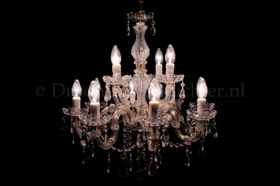 Crystal Chandelier Maria Theresa 8+4 light S-arm (gold)