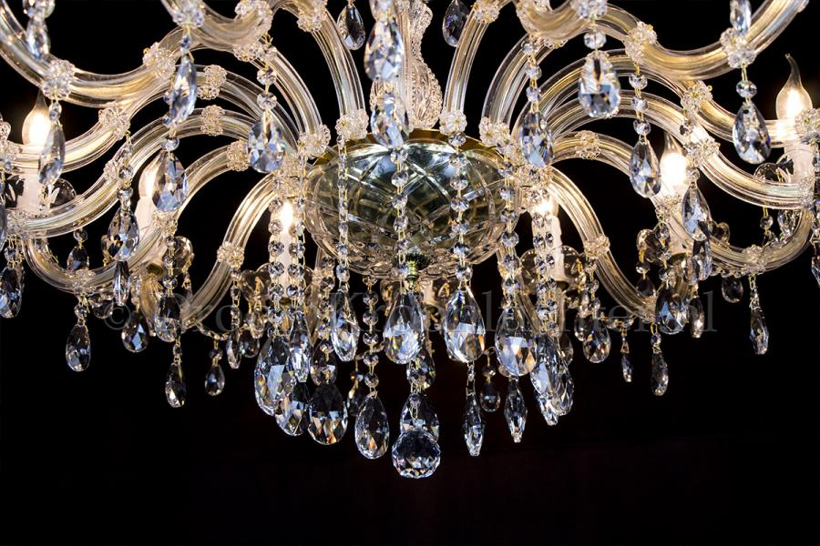 Crystal Chandelier Maria Theresa 16 lights (gold) Single layer