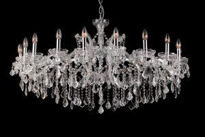 Kristallen kroonluchter Josephine 18 lichts (kristal/chroom) - Ø120cm