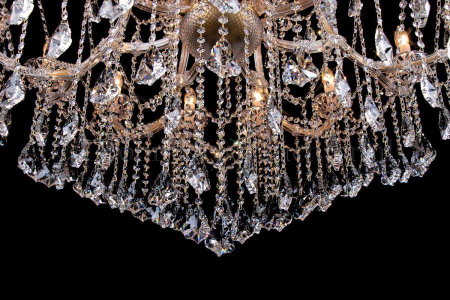 Crystal Chandelier Maria Theresa in bronze 24 lights - Ø125cm
