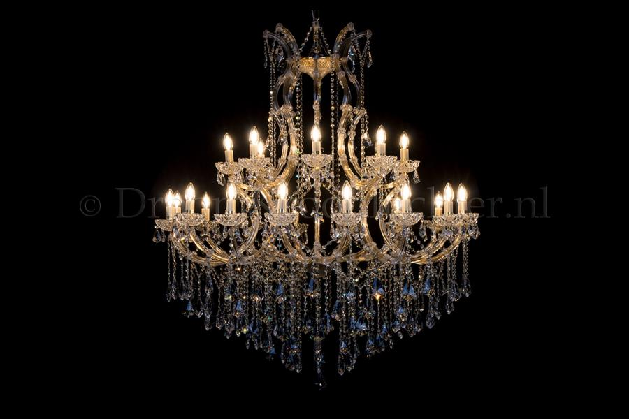Crystal Chandelier Maria Theresa in gold 24 lights - Ø125cm