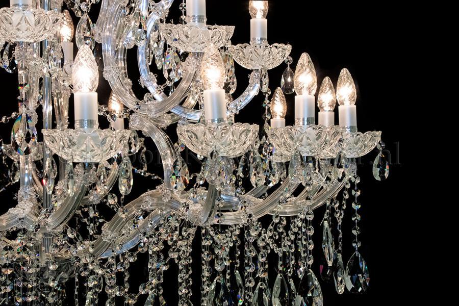 Crystal Chandelier Maria Theresa in chrome 28 lights - Ø120cm