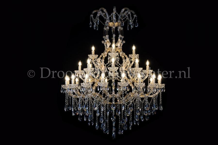 Crystal Chandelier Maria Theresa in gold 28 lights - Ø120cm