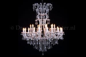 Crystal Chandelier Maria Theresa 30 lights 120cm chrome