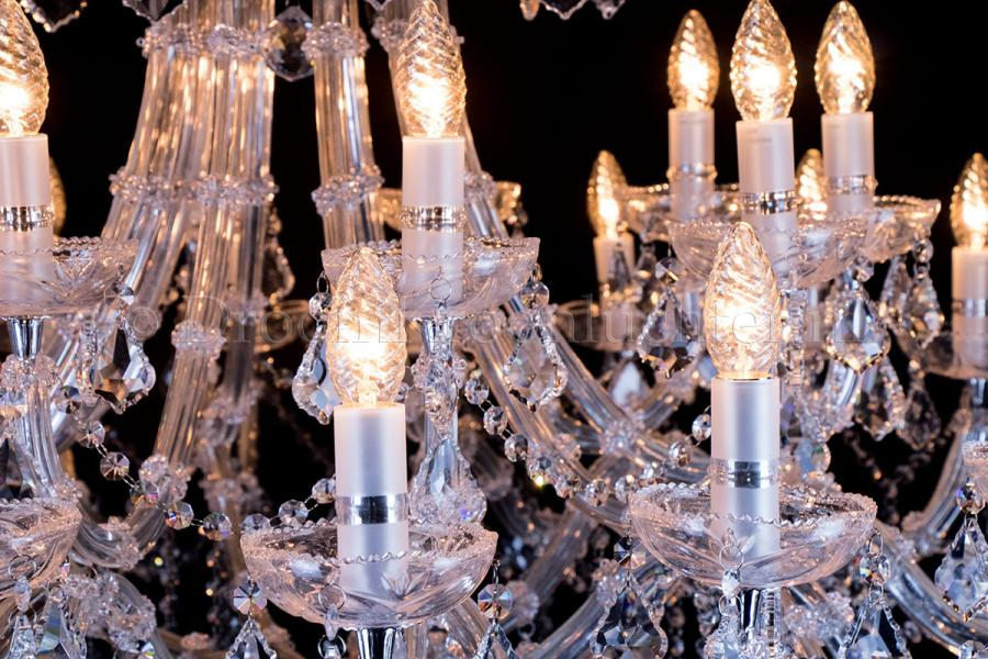 Crystal Chandelier Maria Theresa in chrome 30 lights - Ø120cm