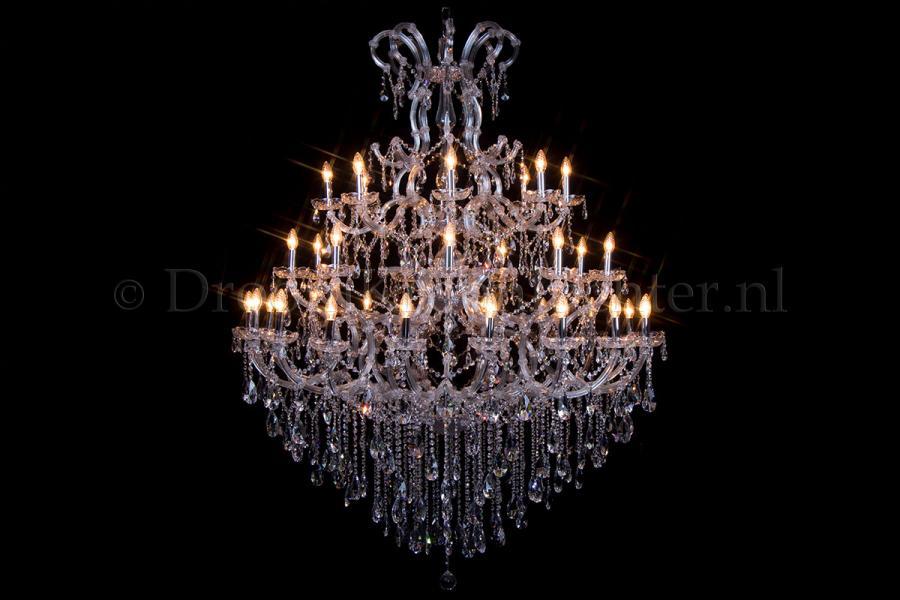 Crystal Chandelier Maria Theresa 35 light chrome 145cm