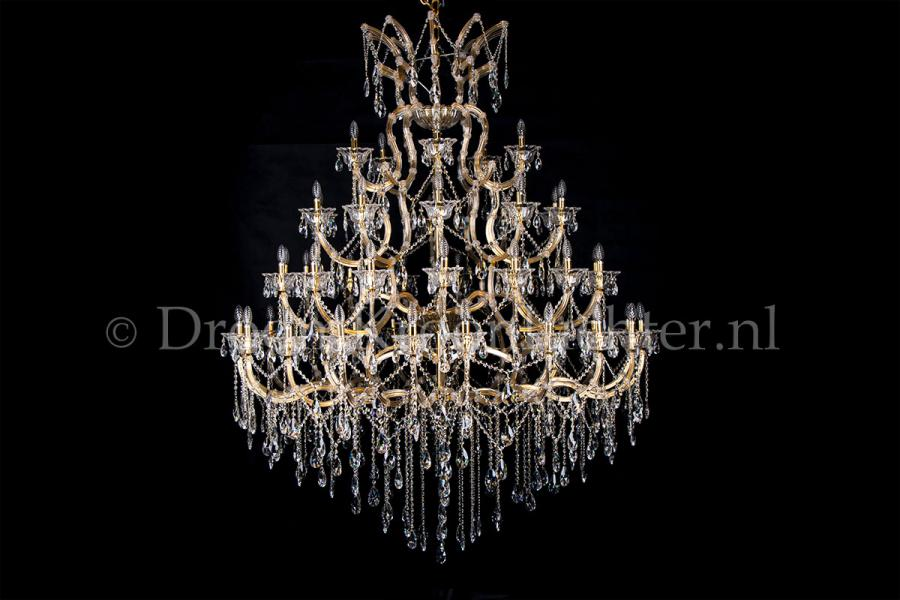 Crystal Chandelier Maria Theresa in gold 50 lights - Ø170cm