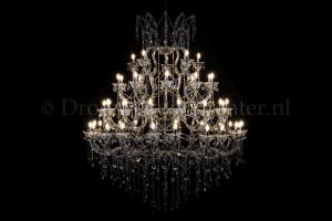 Crystal Chandelier Maria Theresa in chrome 50 lights - Ø170cm