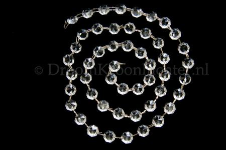 Meter Glass Beads Octagon 14mm