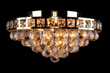 Ceiling light Amanda 4 light gold crystal