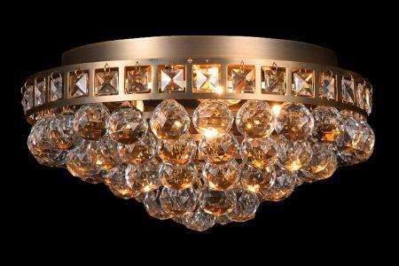Ceiling light Amanda 3 light gold crystal