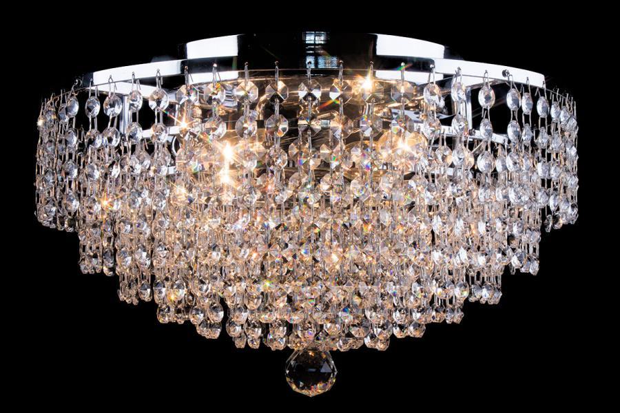 Ceiling lamp Livia 4 lights chrome crystal - Ø40cm