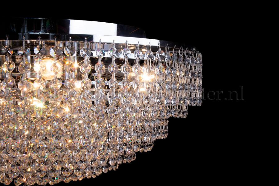 Ceiling lamp Livia 8 lights chrome crystal - 60cm