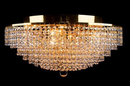 Ceiling lamp Livia 8 lights gold crystal - 60cm