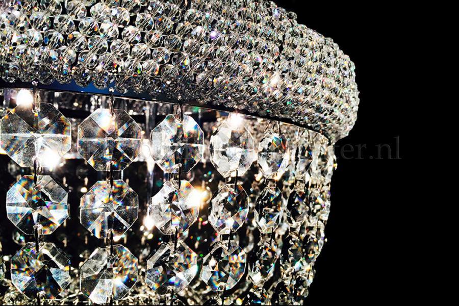 Ceiling lamp Palazzo 9 light (Crystal/chrome) - Ø19.7 Inch