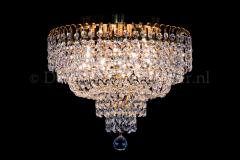 Ceiling lamp Salle 4 lights gold crystal - 40cm