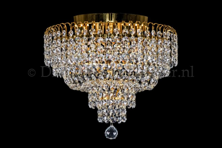 Ceiling lamp Salle 4 lights gold crystal - 40cm