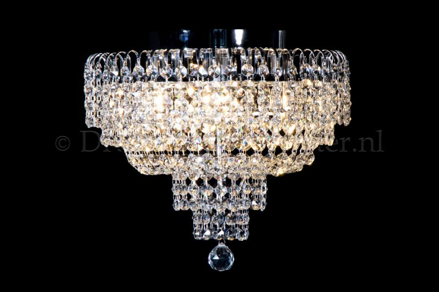 Ceiling lamp Salle 4 lights chrome crystal - 40cm