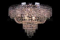 Ceiling lamp Salle 8 lights chrome crystal - 60cm