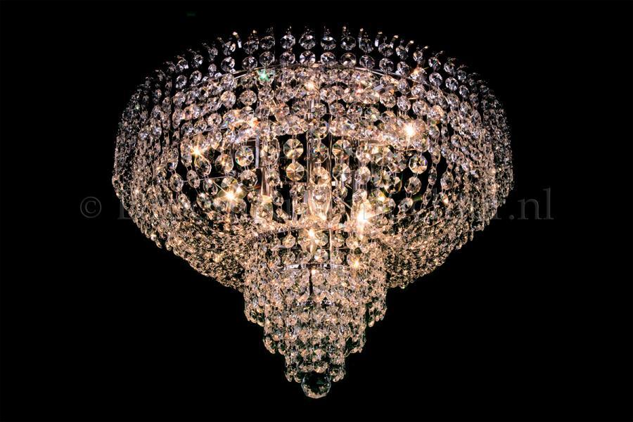 Ceiling lamp Salle 8 lights chrome crystal - 60cm