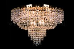 Ceiling lamp Salle 8 lights gold crystal - 60cm