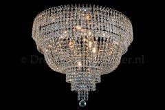 Ceiling lamp Salle 9 lights chrome crystal