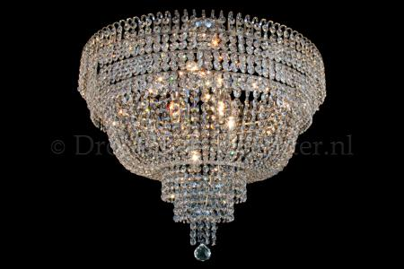Plafondlamp Salle 9 lichts (kristal/chroom) - Ø80cm