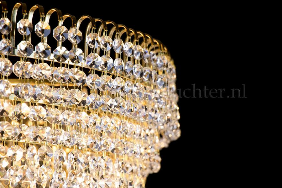 Ceiling lamp Salle 9 lights gold crystal