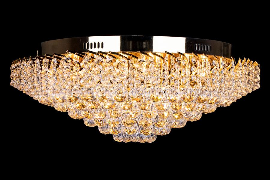 Ceiling lamp Shay 12 light (Crystal/gold) - Ø25.59Inch