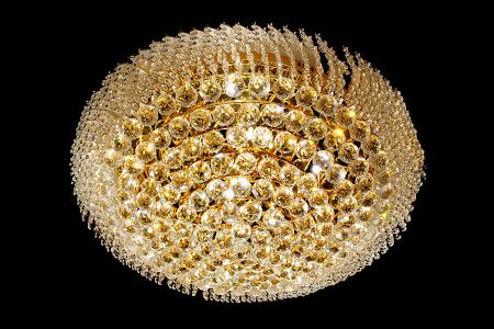 Ceiling lamp Shay 18 light (Crystal/gold) - Ø31.5 Inch