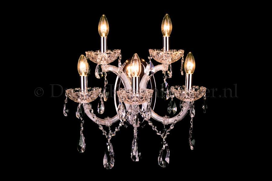 Crystal Wall lamp Maria Theresa 5 lights (crystal/chrome) - C-arm
