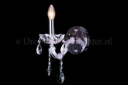 Luxurious Crystal Wall light Maria Theresa 1 light (chrome)