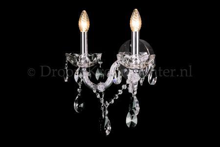 Cystal Wall light Maria Theresa 2 light crystal (chroom) LUXURY Edition