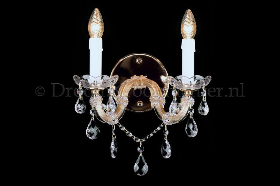 Cystal Wall light Maria Theresa 2 light crystal (gold)