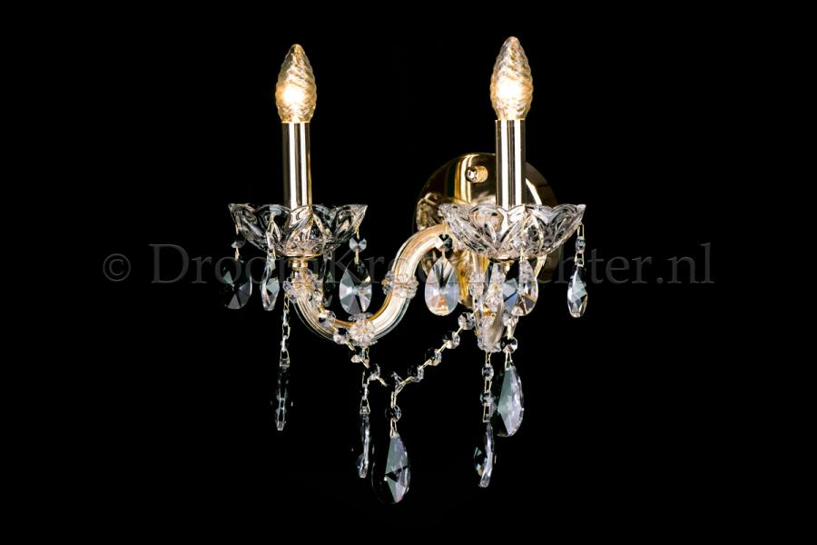 Cystal Wall light Maria Theresa 2 light crystal (gold) LUXURY Edition